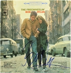 "Bob Dylan Spectacular Signed ""The Freewheelin"" Record Album Cover (Beckett/BAS)"
