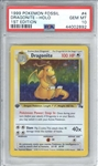 1999 Pokemon Fossil 1st Edition Dragonite Holo Card - PSA Graded GEM MINT 10