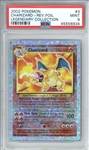 2002 Pokemon Legendary Collection Charizard Reverse Foil Card - PSA Graded MINT 9