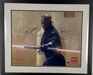 "Ray Park Signed 16"" x 20"" Color ""Darth Maul"" Photograph (Steiner)"