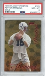 Peyton Manning 1998 Playoff Prestige Gold /25 Rookie Card (PSA Graded NM-MT 8)