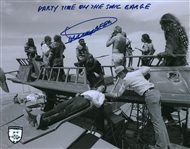 "Dickey Beer Signed 8"" x 10"" Star Wars Photograph w/ ""Party Time On The Sail Barge"" Inscription (Beckett/BAS Guaranteed)"