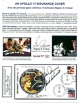 Gene Cernans ULTRA-RARE Apollo 17 Crew-Signed Personal Insurance Cover - One of Only 500! (Beckett/BAS Guaranteed)