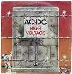 "AC/DC Rare Group Signed ""High Voltage"" Record Album with Bon Scott! (Beckett/BAS LOA)"