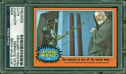 Sir Alec Guinness Signed 1977 Star Wars Trading Card #268 (PSA/DNA Encapsulated)