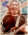"The Grateful Dead: Jerry Garcia RARE In-Person Signed 8"" x 10"" Color Photo (John Brennan Collection)(Beckett/BAS Guaranteed)"