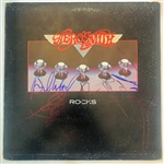 "Aerosmith In-Person Group Signed ""Rocks"" Record Album (John Brennan Collection)(Beckett/BAS Guaranteed)"