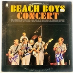 "The Beach Boys Group Signed ""Concert"" Record Album with Wilson, Love & Jardine (John Brennan Collection)(Beckett/BAS Guaranteed)"