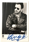 "The Beatles: Ringo Starr Signed 4"" x 6"" Black & White Promotional Photograph (Beckett/BAS LOA)"