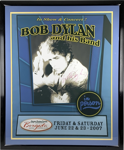 Bob Dylan Signed 31 x 40 Concert Poster for 2007 Atlantic City, NJ Concert with BOLD Autograph (Epperson/REAL)