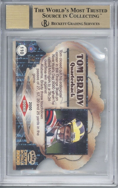 Tom Brady Signed 2000 Crown Royale RC #110 w/ Near Impossible BGS 9.5 Card Grade!