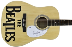 The Beatles: Paul McCartney Superb Signed Acoustic Guitar (PSA/DNA)