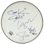 Alice In Chains ULTRA-RARE Group Signed REMO Drumhead w/ Original Lineup incl. Layne Staley (Beckett/BAS)