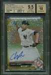 Chance Adams Signed 2017 Bowman Chrome Prospect Gold Shimmer Refractors /50 Card (Beckett/BGS Graded 9.5 w/ 10 Auto)