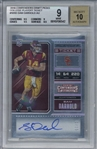 Sam Darnold Signed 2018 Panini Contenders Playoff Ticket Card Beckett BGS 9 10