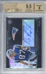 Rob Gronkowski Signed 2010 Topps Platinum Black Refractors /99 Rookie Card (Beckett/BGS Graded 9.5 w/ 8 Auto)