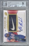 Rob Gronkowski Signed ONE of ONE 2010 SPx Gold Patch Rookie Card (Beckett/BGS Graded 9 w/ 10 Auto)