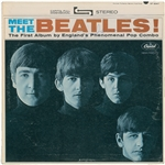 "The Beatles: George Harrison Rare Vintage Signed ""Meet The Beatles"" Album (Epperson/REAL & TRACKS)"
