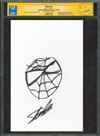 Stan Lee Hand Drawn & Signed Spider-Man Sketch (CGC Certified & PSA/DNA LOA)