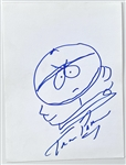 South Park: Trey Parker 'Cartman' In-Person Hand-Drawn & Signed Sketch (John Brennan Collection) (BAS Guaranteed)