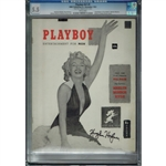 Incredible Hugh Hefner Signed 1953 Playboy First Issue Magazine  (PSA Authentication & Grading, CGC Slabbed & Graded)