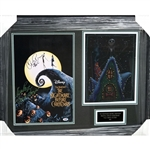 "One-of-a-Kind ""Nightmare Before Christmas"" Original Jack Skellington Concept Storyboard Art and Cast Signed Lithograph Framed Display (PSA Authentication)"