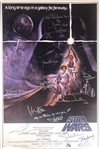 "STELLAR ""Star Wars: A New Hope"" 12-Member Cast/Crew-Signed 24"" x 36"" Reprint Poster (12 Sigs) (BAS Guaranteed)"