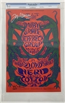 "Jeff Beck Rare Signed 1968 First Printing Fillmore East 21"" x 14"" Concert Poster (CGC 9.2)"
