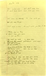 "Chuck Berry Handwritten Unpublished Lyrics for Composition ""Hurts Me"" (c.1970s)(Beckett/BAS LOA)"