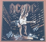"AC/DC Complete Band Signed ""Stiff Upper Lip"" Record Flat with ""AC/DC"" Inscriptions (PSA/DNA)"