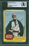 "Sir Alec Guinness RARE Signed 1977 Star Wars #195 Obi-Wan ""Ben"" Kinobi Trading Card (Beckett/BAS Encapsulated)"
