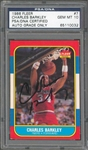 Charles Barkley Signed 1986 Fleer Rookie Card #7 - PSA/DNA Graded GEM MINT 10!