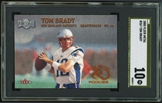 Tom Brady 2000 Fleer Metal #267 Rookie Card :: SGC Pristine GOLD LABEL 10 :: POP 1!