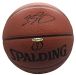 LeBron James Signed Official NBA Basketball (Upper Deck/UDA COA & Beckett/BAS LOA)
