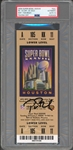 Tom Brady Signed Super Bowl XXXVIII Ticket :: Rare Gold Variantion :: PSA/DNA Graded GEM MINT 10 Autograph!