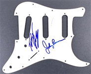The Ramones: Johnny Ramone & Tommy Ramone Dual Signed Stratocaster Guitar Pickguard (Beckett/BAS Guaranteed)
