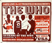 The Who: Roger Daltrey & Pete Townshend Signed Limited Edition 2016 Concert Poster (Beckett/BAS LOA)