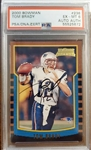 Tom Brady Signed 2000 Bowman Rookie Card with RARE Rookie Era Autograph! (PSA EX-MT 6 with Autograph)