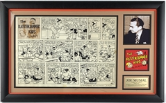 The Katzenjammer Kids: Joe Musial Signed Original Comic Strip Artwork (c. 1962) in Custom Framed Display (Beckett/BAS Guaranteed)