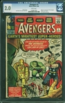 The Avengers #1 (Marvel, 1963) CGC GD 2.0 with WHITE Pages