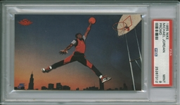 1985 Nike Michael Jordan Promotional Rookie Card RC :: PSA MINT 9