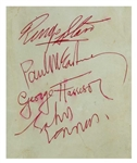 The Beatles Superb Vintage Group Signed Album Page c. 1963 (Caiazzo LOA)